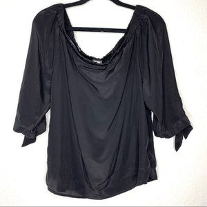 Anthropologie Guest Editor black off shoulder top